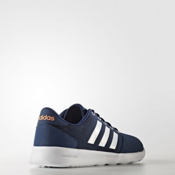 Adidas Cloudfoam Qt Racer Femme Mystery Blue/Footwear White/Glow Orange neo Chaussures NO: AW4004