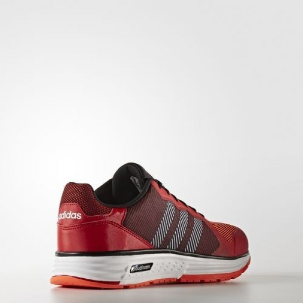 Adidas Cloudfoam Flyer Homme Scarlet/Core Black/Solar Red neo Chaussures NO: AW4093