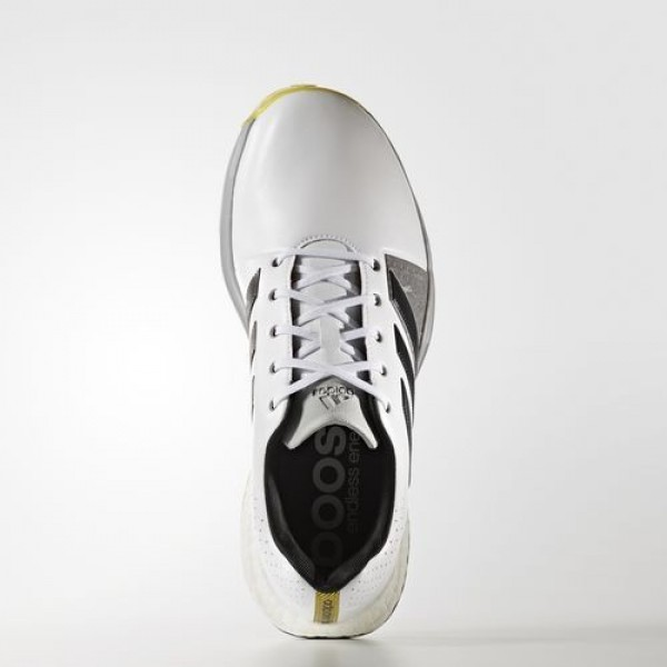 Adidas Adipower Boost 3 Wide Homme Footwear White/Carbon/Vivid Yellow Golf Chaussures NO: Q44765