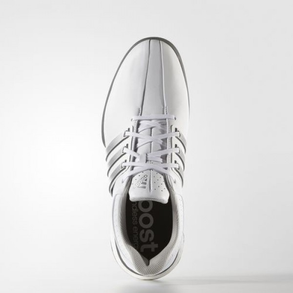 Adidas Tour 360 Boost Wide Homme Footwear White/Silver Metallic/Dark Silver Metallic Golf Chaussures NO: F33261