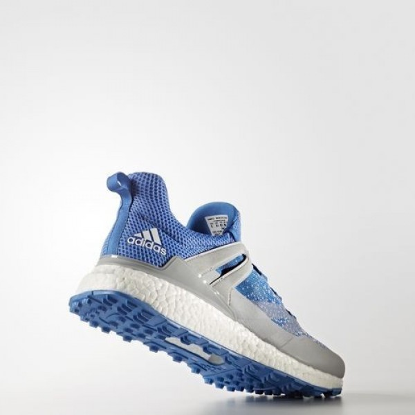 Adidas Crossknit Boost Homme Clear Onix/Blast Blue/Footwear White Golf Chaussures NO: Q44683