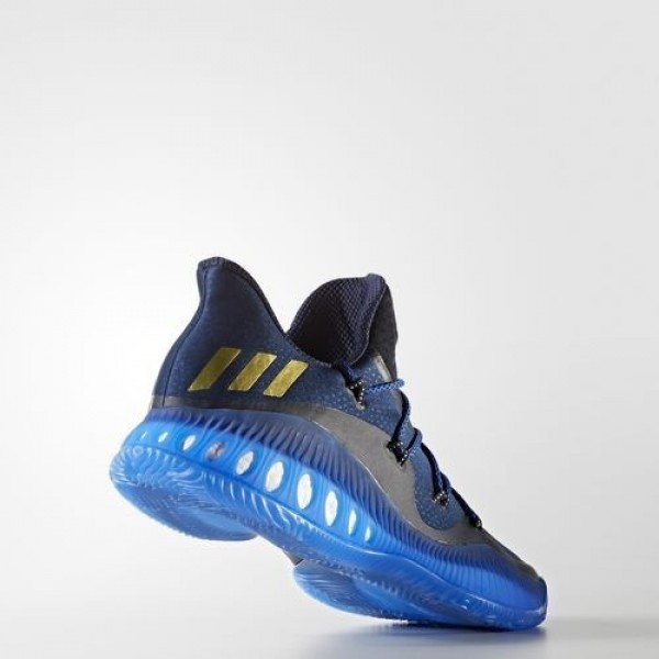 Adidas Crazy Explosive Low Homme Collegiate Navy/Matte Gold/Blue Basketball Chaussures NO: BW0571