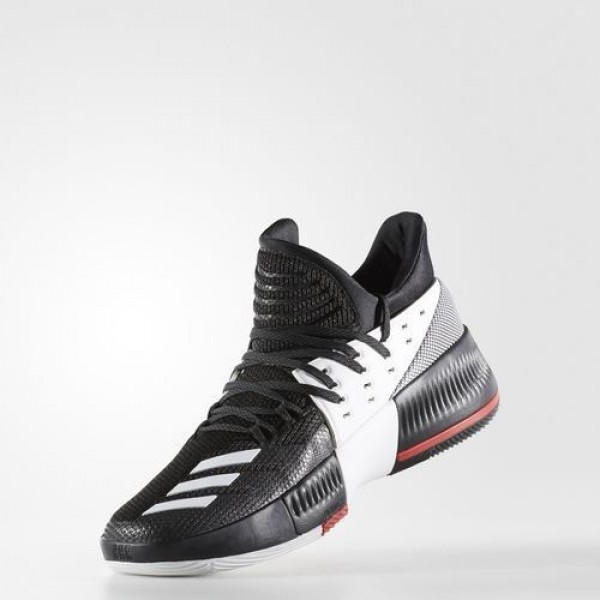 Adidas Dame 3 On Tour Homme Core Black/Utility Black/Footwear White Basketball Chaussures NO: BB8269