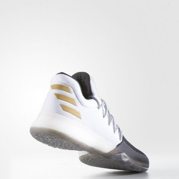 Adidas Harden Vol. 1 Homme Footwear White/Core Black/Gold Metallic Basketball Chaussures NO: BW0552