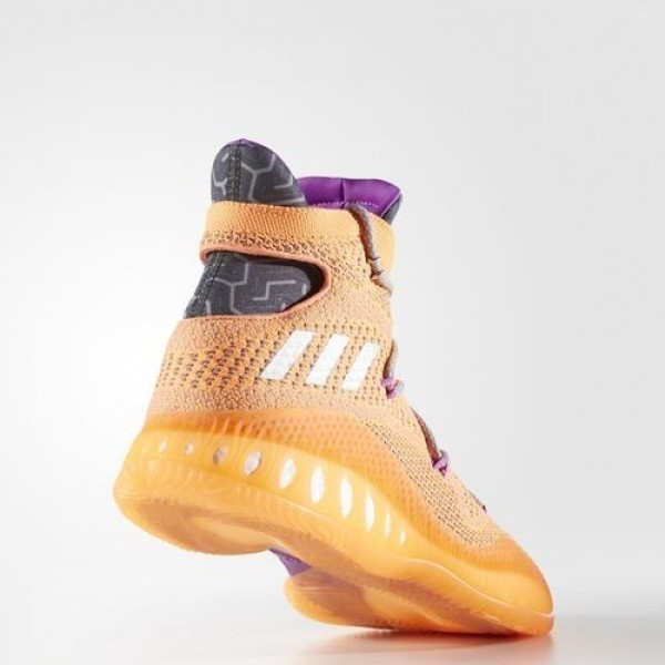 Adidas Crazy Explosive Primeknit Homme Glow Orange/Silver Metallic/Dark Grey Heather Solid Grey Basketball Chaussures NO: BB8370