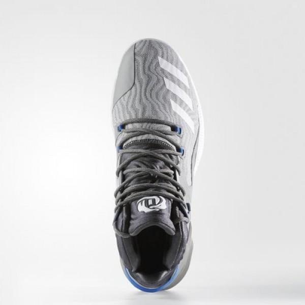 Adidas D Rose 7 Primeknit Homme Solid Grey/Footwear White/Dark Grey Heather Solid Grey Basketball Chaussures NO: BB8212