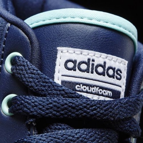 Adidas Cloudfoam Daily Qt Mid Femme Collegiate Navy/Footwear White/Clear Aqua neo Chaussures NO: AW4215