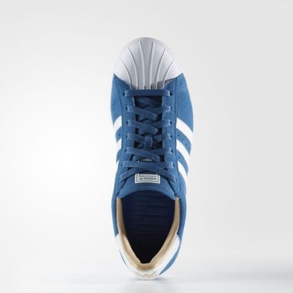 Adidas Superstar Vulc Adv Homme Core Blue/Footwear White/Gold Metallic Originals Chaussures NO: BB8607