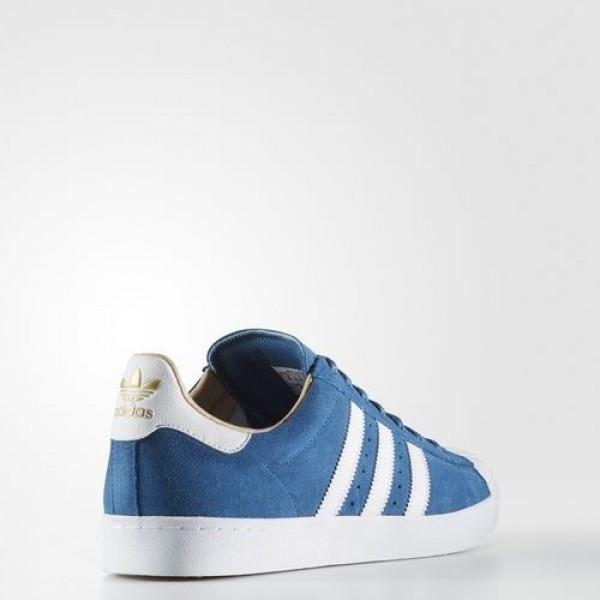 Adidas Superstar Vulc Adv Homme Core Blue/Footwear White/Gold Metallic Originals Chaussures NO: BB8607