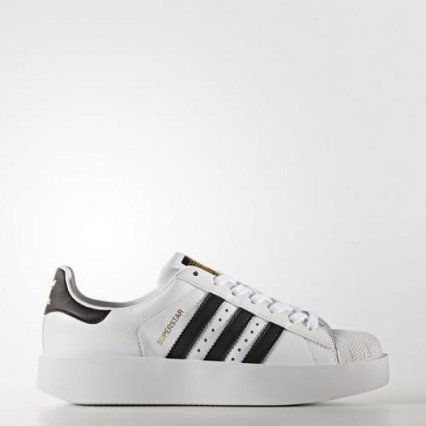 Adidas Superstar Bold Platform Femme Footwear White/Core Black/Gold Metallic Originals Chaussures NO: BA7666