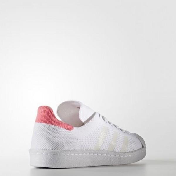 Adidas Superstar 80S Primeknit Femme Footwear White/Solar Pink Originals Chaussures NO: BB5095