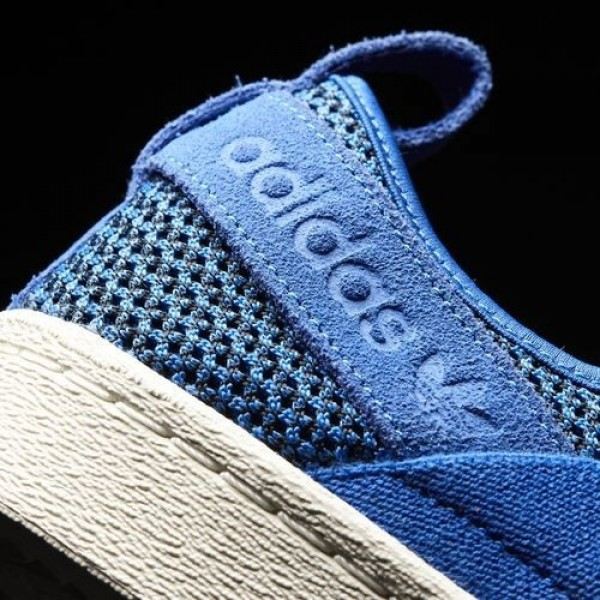 Adidas Superstar Slip-On Femme Blue/Off White Originals Chaussures NO: BB2120