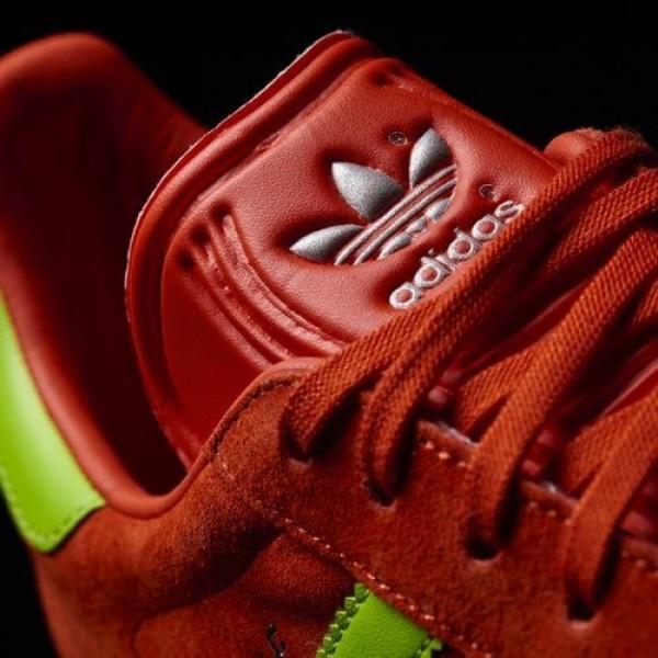 Adidas Gazelle Homme Core Red/Semi Solar Green/Gum Originals Chaussures NO: BB5263