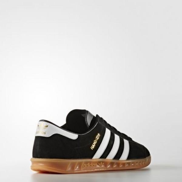 Adidas Hamburg Femme Core Black/Footwear White/Gum Originals Chaussures NO: S76696