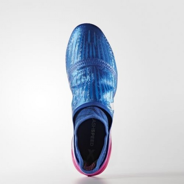 Adidas X 16+ Purechaos Terrain Souple Homme Blue/Footwear White/Shock Pink Football Chaussures NO: BB5613