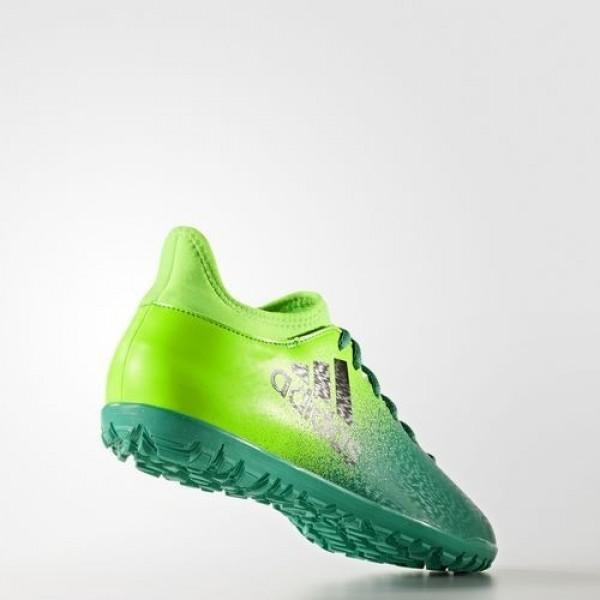 Adidas X 16.3 Turf Homme Solar Green/Core Black/Core Green Football Chaussures NO: BB5875