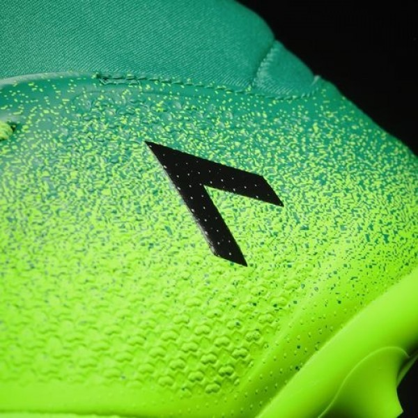 Adidas Ace 17.3 Primemesh Terrain Souple Femme Solar Green/Core Black/Core Green Football Chaussures NO: BB1016