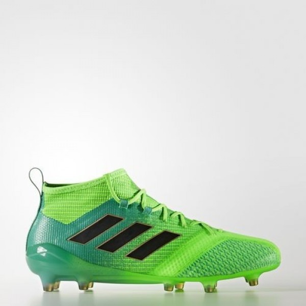 Adidas Ace 17.1 Primeknit Terrain Souple Homme Solar Green/Core Black/Core Green Football Chaussures NO: BB5961