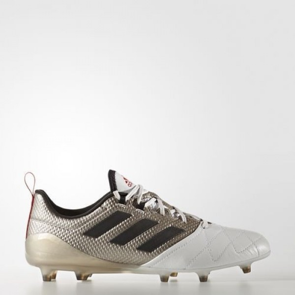 Adidas Ace 17.1 Terrain Souple Femme Platin Metallic/Core Black/Core Red Football Chaussures NO: BA8554
