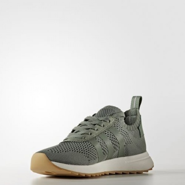 Adidas Flb Primeknit Femme Trace Green/Crystal White Originals Chaussures NO: BY2798