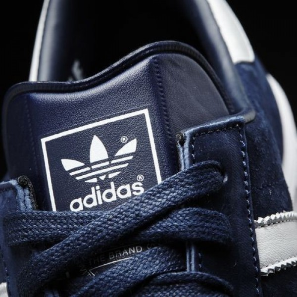 Adidas Hamburg Homme Collegiate Navy/Footwear White/Gold Metallic Originals Chaussures NO: S74838