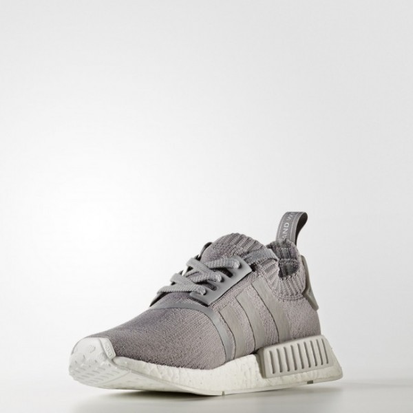 Femmes Originals Chaussure NMD_R1 Primeknit Couleur Grey Three /Grey Three /Footwear White (BY8762)