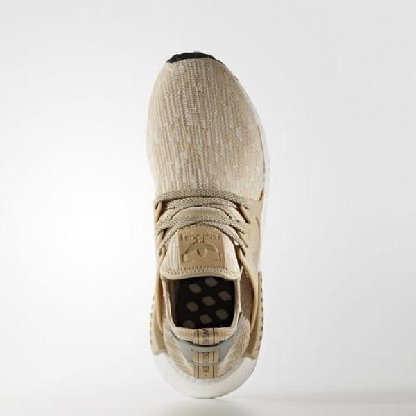 Adidas Nmd_Xr1 Primeknit Femme Linen / Matte Silver / Core Black Originals Chaussures NO: S77194