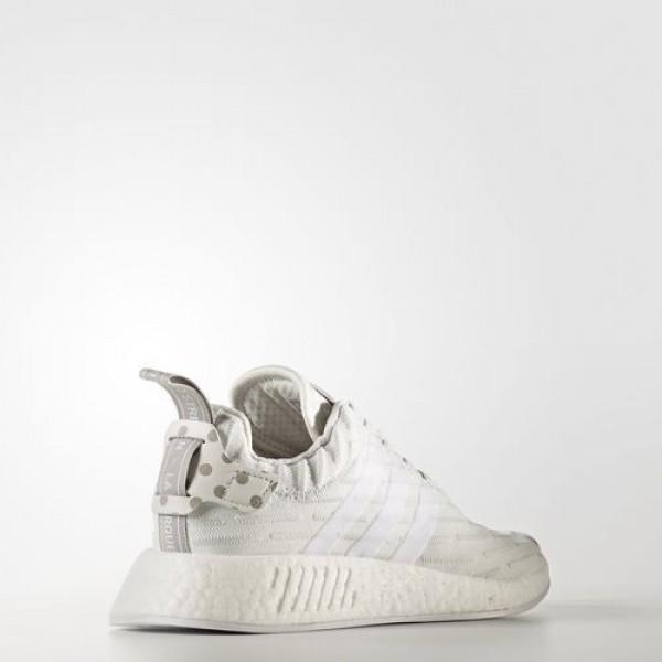 Adidas Nmd_R2 Primeknit Femme Clear Granite/Vintage White/Footwear White Originals Chaussures NO: BY2245