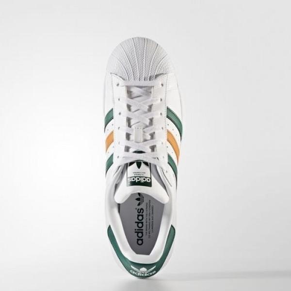 Adidas Superstar Homme Footwear White/Collegiate Green/Tactile Orange Originals Chaussures NO: BB2247