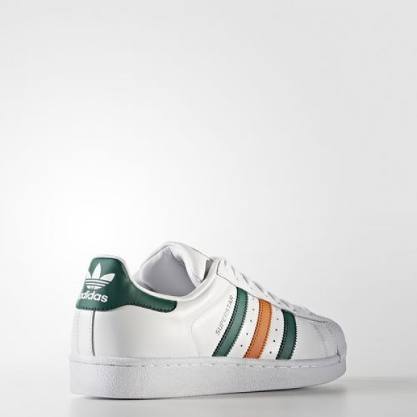 Adidas Superstar Homme Footwear White/Collegiate Green/Tactile Orange Originals Chaussures NO: BB2247