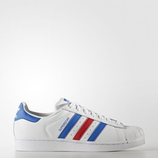 Adidas Superstar Femme Footwear White/Blue/Red Ori...