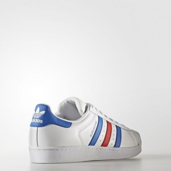 Adidas Superstar Femme Footwear White/Blue/Red Originals Chaussures NO: BB2246