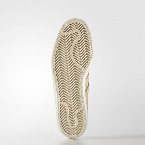 Adidas Superstar 80S Femme Pale Nude/Off White Originals Chaussures NO: BA7604
