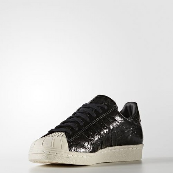 Adidas Superstar 80S Femme Core Black/Off White Originals Chaussures NO: BB2055