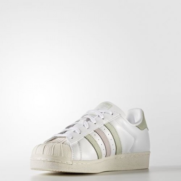 Adidas Superstar Femme Footwear White/Linen Green/Ice Purple Originals Chaussures NO: BB2142