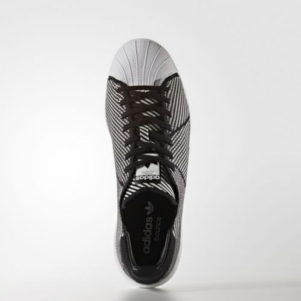 Adidas Superstar Bounce Primeknit Homme Core Black/Footwear White Originals Chaussures NO: S82243