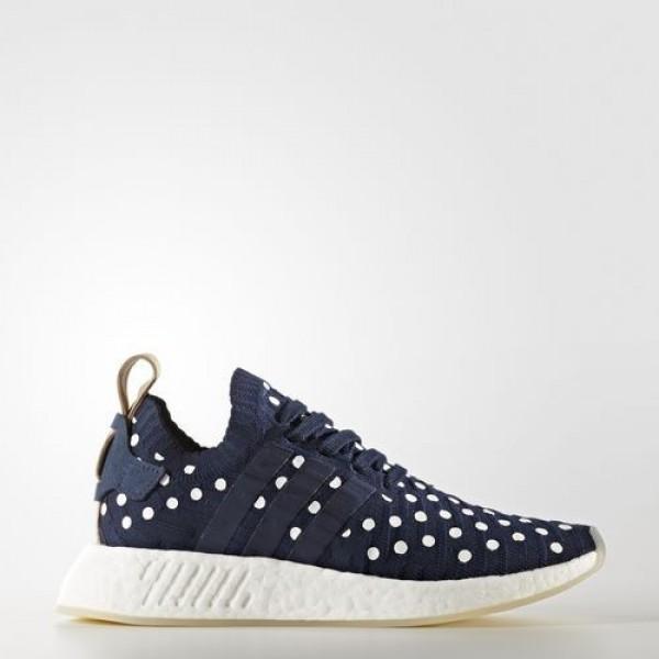 Adidas Nmd_R2 Primeknit Femme Collegiate Navy/Foot...