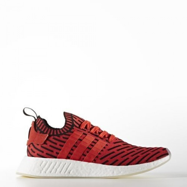 Adidas Nmd_R2 Primeknit Femme Core Red/Footwear Wh...