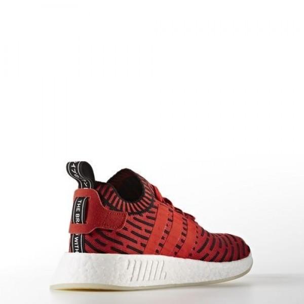 Adidas Nmd_R2 Primeknit Femme Core Red/Footwear White Originals Chaussures NO: BB2910