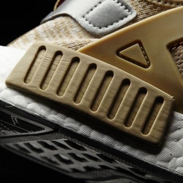 Adidas Nmd_Xr1 Primeknit Homme Linen / Matte Silver / Core Black Originals Chaussures NO: S77194