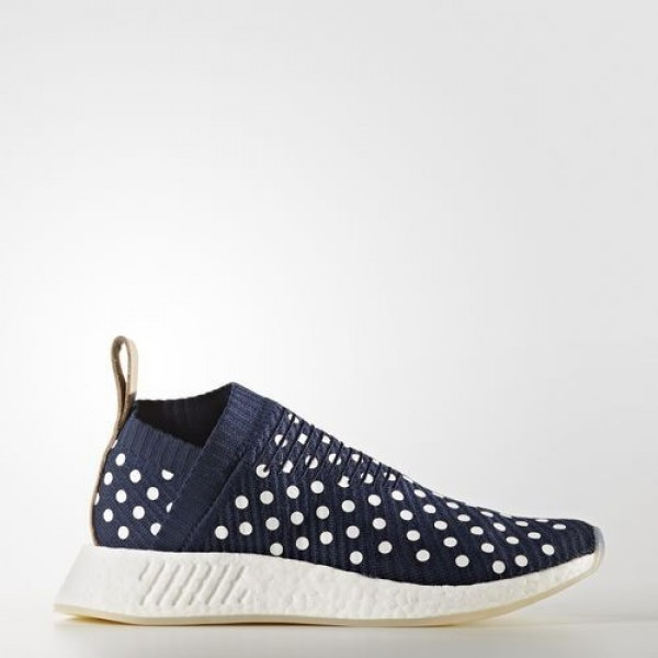 Adidas Nmd_R2 Primeknit Homme Collegiate Navy/Foot...
