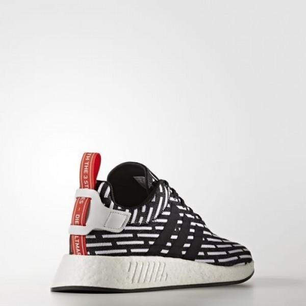 Adidas Nmd_R2 Primeknit Homme Core Black/Footwear White Originals Chaussures NO: BB2951