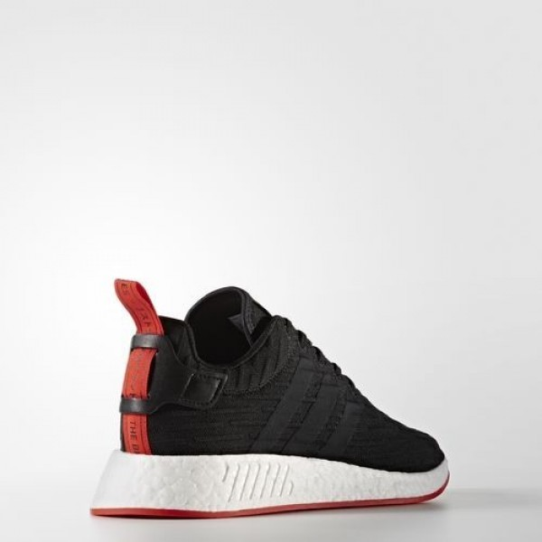 Adidas Nmd_R2 Primeknit Homme Core Black/Core Red Originals Chaussures NO: BA7252