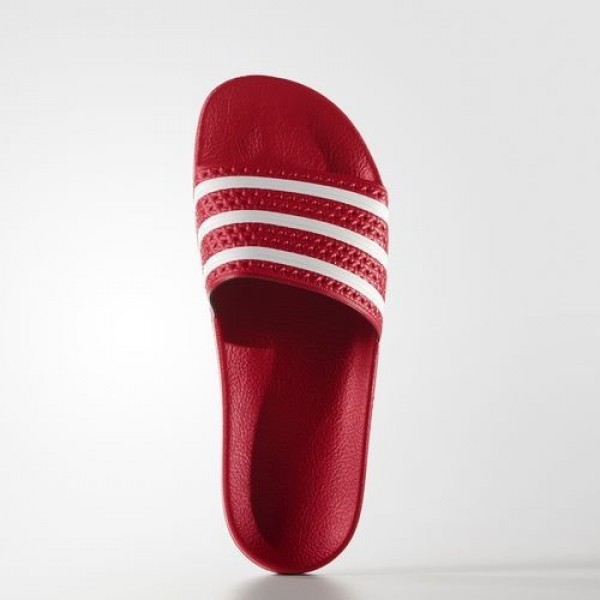 Adidas Sandale Adilette Femme Scarlet/White Originals Chaussures NO: 288193