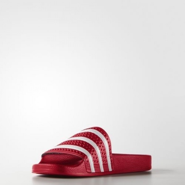 Adidas Sandale Adilette Homme Scarlet/White Originals Chaussures NO: 288193