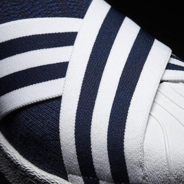 Adidas White Mountaineering Primeknit Superstar Slip-On Homme Collegiate Navy / Ftwr White / Ftwr White Originals Chaussures NO: BY2879