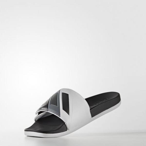 Adidas Sandale Adilette Cloudfoam Plus Adjustable Homme Core Black/Iron Metallic/Footwear White Natation Chaussures NO: S80344