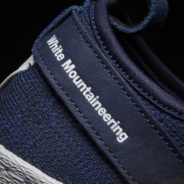 Adidas White Mountaineering Primeknit Superstar Slip-On Femme Collegiate Navy / Ftwr White / Ftwr White Originals Chaussures NO: BY2879