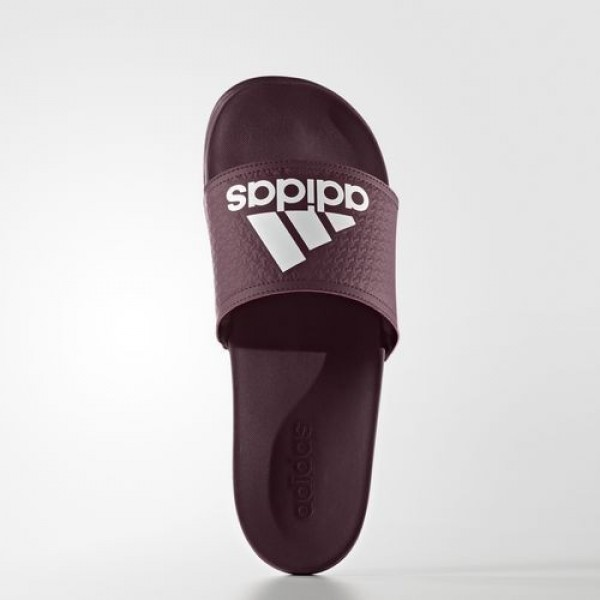 Adidas Sandale Adilette Cloudfoam Plus Homme Maroon/Footwear White Natation Chaussures NO: AQ3114