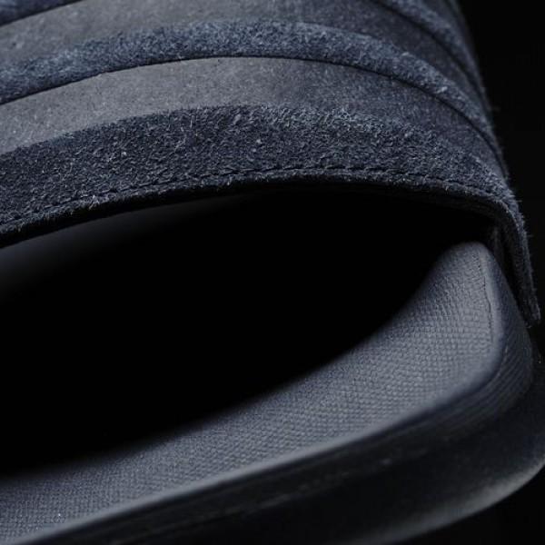 Adidas Sandale Adilette Cloudfoam Ultra Explorer Homme Collegiate Navy/Collegiate Navy/Collegiate Navy Natation Chaussures NO: AQ5050